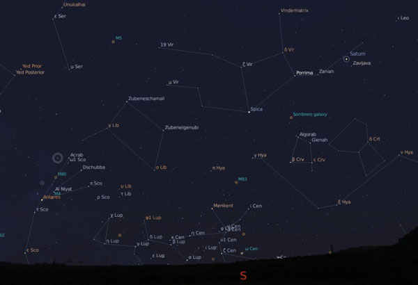 Andalucia sky map