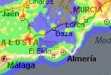 andalucia light pollution map